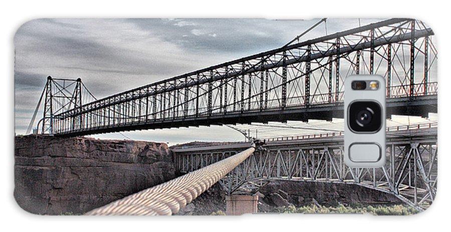 Suspension Galaxy S8 Case featuring the photograph Swayback Suspension Bridge by Farol Tomson