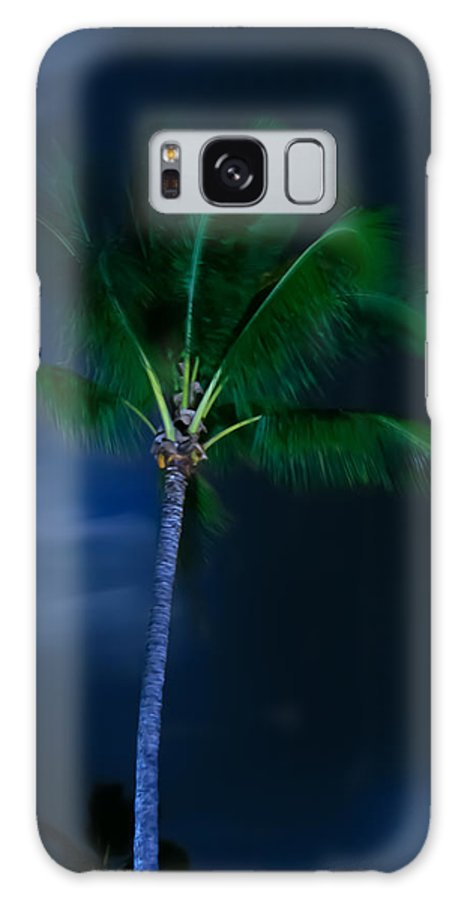 Palm Trees Galaxy S8 Case featuring the photograph Swaying Palm Tree by Roger Mullenhour