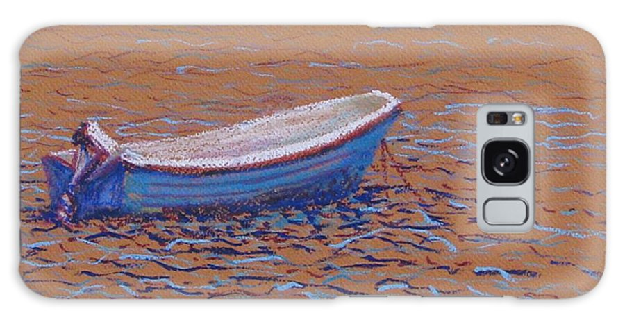 Boat Galaxy Case featuring the pastel Swedish Boat by Art Nomad Sandra Hansen
