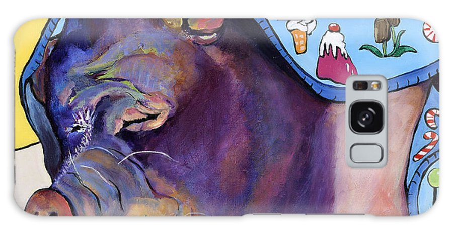 Farm Animal Galaxy S8 Case featuring the painting Sweet Dreams by Pat Saunders-White