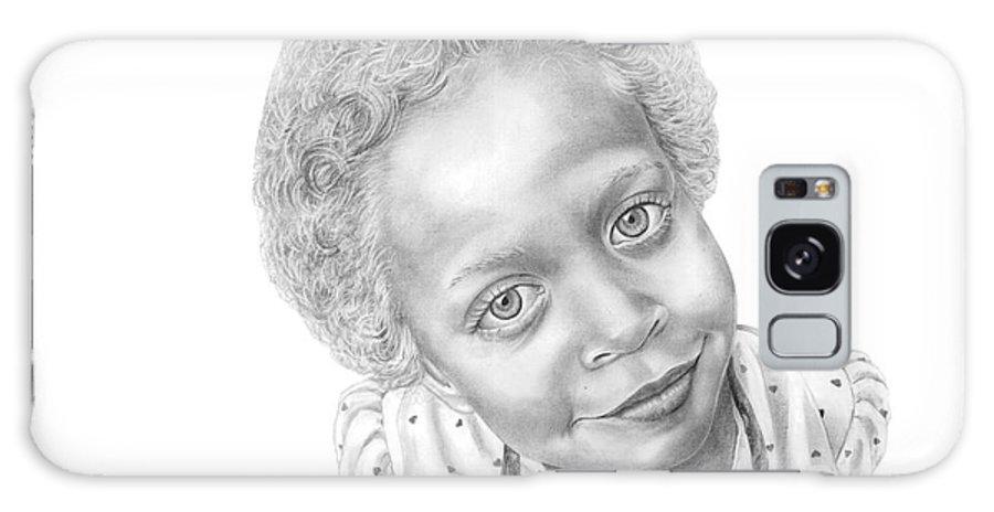 Portrait Galaxy S8 Case featuring the drawing Sweet Eyes by Murphy Elliott