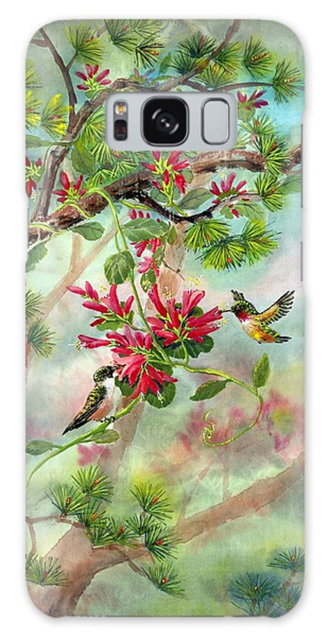 Hummingbirds Galaxy Case featuring the painting Sweet Journey by Eileen Fong
