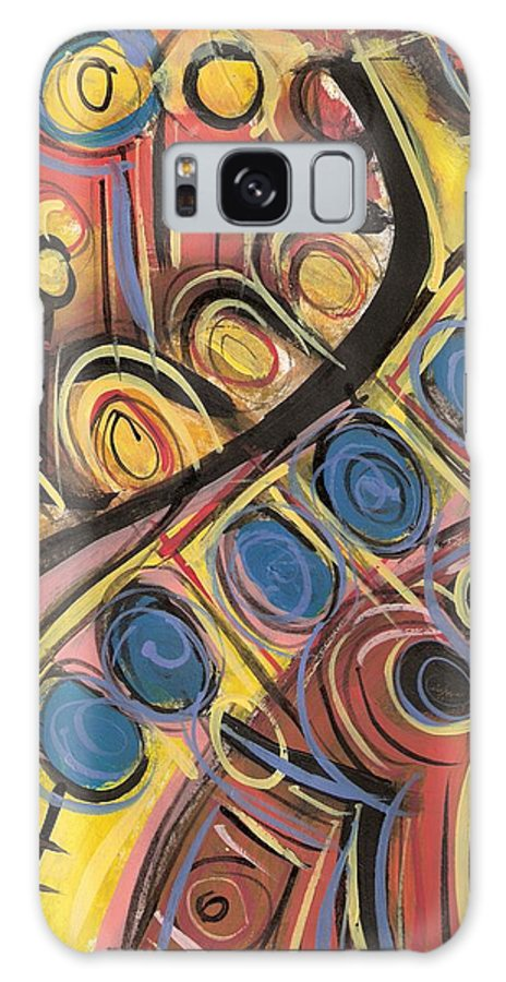 Abstract Painting Galaxy S8 Case featuring the painting Sweet Music by Americo Salazar