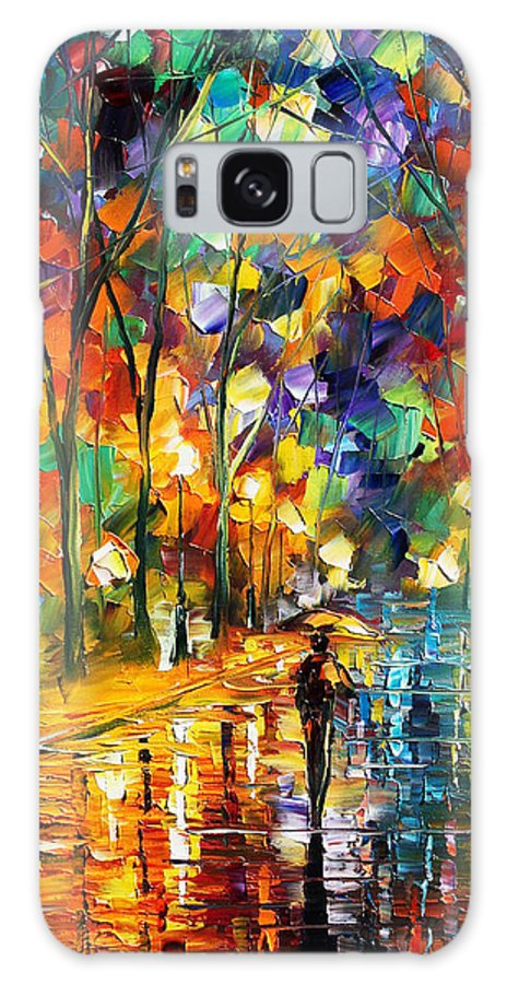 Afremov Galaxy S8 Case featuring the painting Sweet Night by Leonid Afremov
