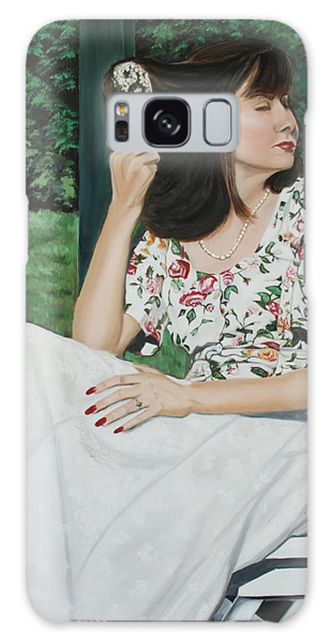 Garden Galaxy Case featuring the painting Sweet Spring Day by Margaret Fortunato