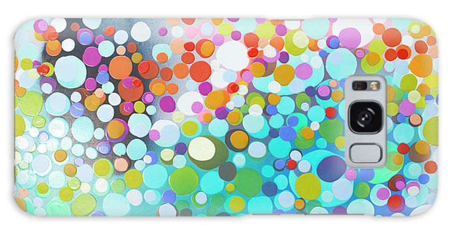 Abstract Galaxy Case featuring the painting Sweet Thing by Claire Desjardins
