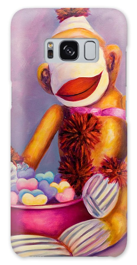Heart Galaxy Case featuring the painting Sweetheart Made Of Sockies by Shannon Grissom
