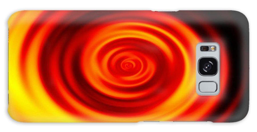 Swirled Galaxy S8 Case featuring the digital art Swirled Sunrise by Rhonda Barrett