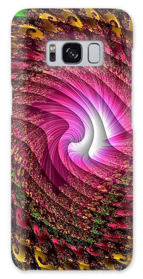 Announcement Galaxy S8 Case featuring the painting Swirledya-neonaya Catus 1 No.1 V A by Gert J Rheeders