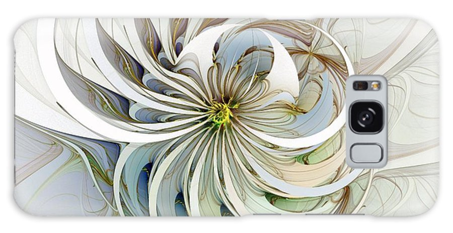 Digital Art Galaxy Case featuring the digital art Swirling Petals by Amanda Moore