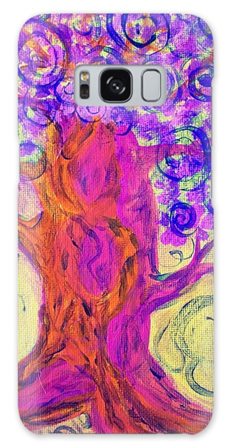 Tree Galaxy S8 Case featuring the painting Swirly Tree by Laurette Escobar
