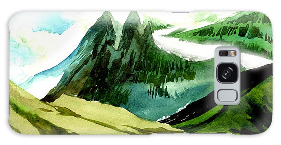 Landscape Galaxy Case featuring the painting Switzerland by Anil Nene
