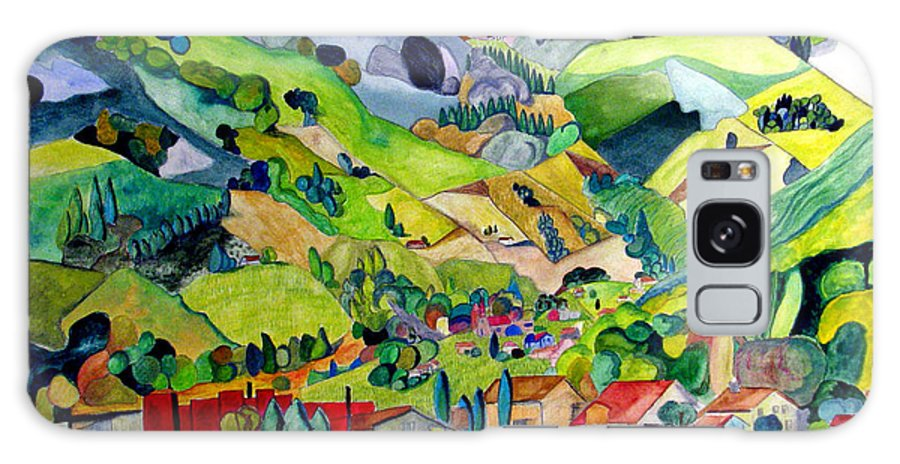 Landscape Galaxy Case featuring the painting Switzerland by Patricia Arroyo