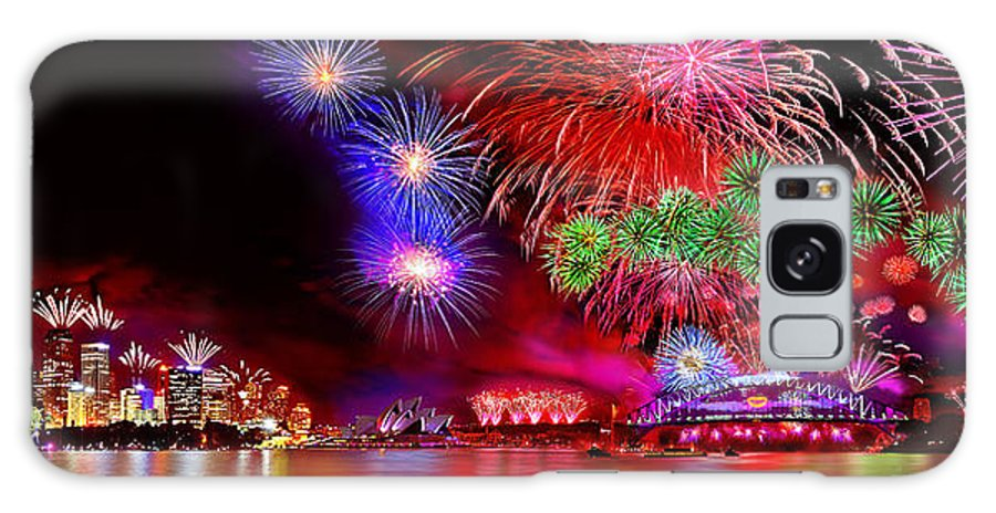 Sydney Galaxy S8 Case featuring the photograph Sydney Celebrates by Az Jackson