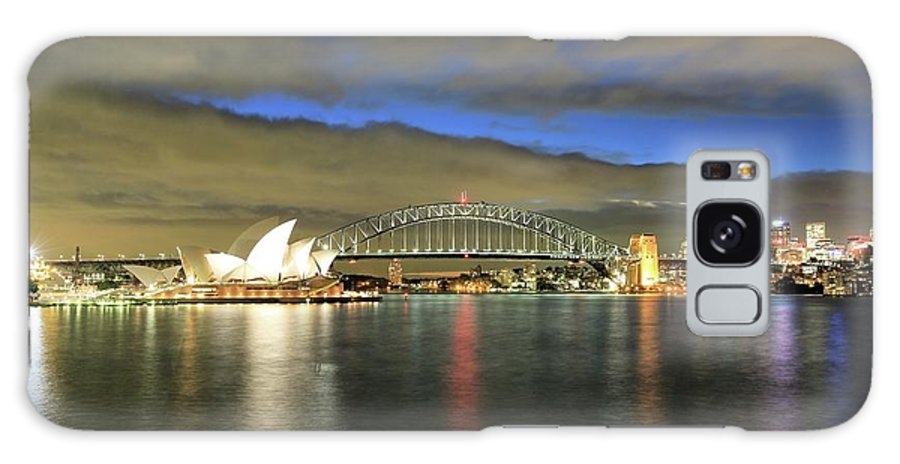 Photosbymch Galaxy S8 Case featuring the photograph Sydney Harbor At Blue Hour by M C Hood