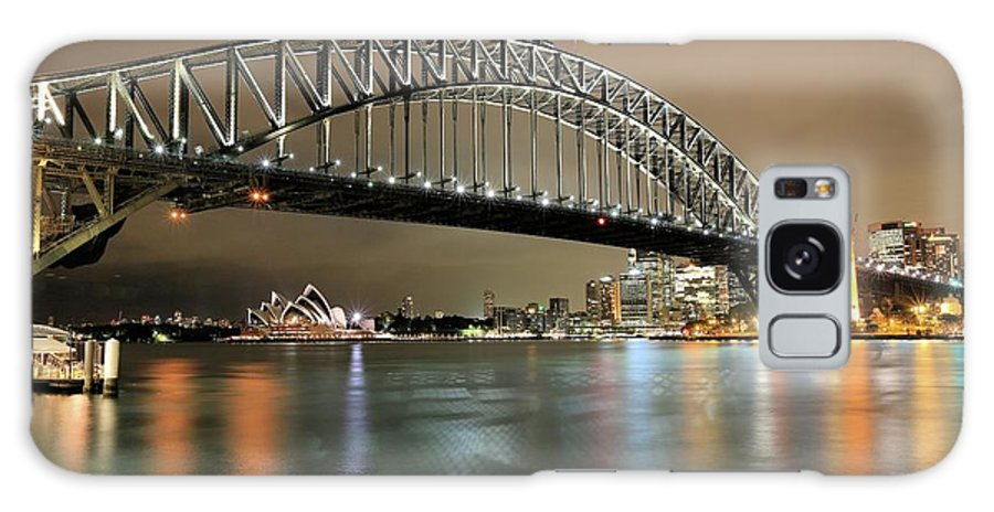 Photosbymch Galaxy S8 Case featuring the photograph Sydney Harbour At Night by M C Hood