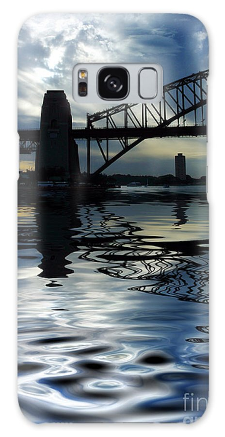 Sydney Harbour Australia Bridge Reflection Galaxy Case featuring the photograph Sydney Harbour Bridge Reflection by Sheila Smart Fine Art Photography