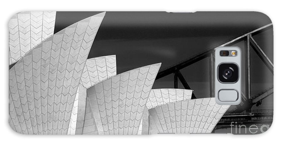 Sydney Opera House Galaxy Case featuring the photograph Sydney Opera House with bridge backdrop by Sheila Smart Fine Art Photography