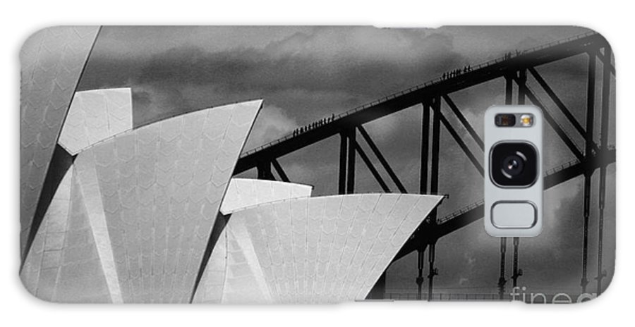 Sydney Opera House Galaxy Case featuring the photograph Sydney Opera House with Harbour Bridge by Sheila Smart Fine Art Photography