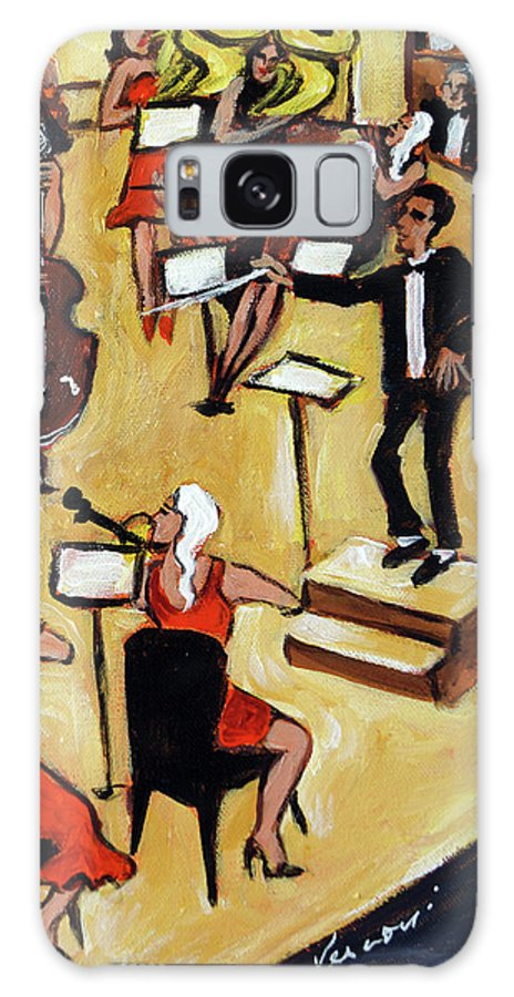 Carnegie Hall Orchestra Galaxy Case featuring the painting Symphony by Valerie Vescovi