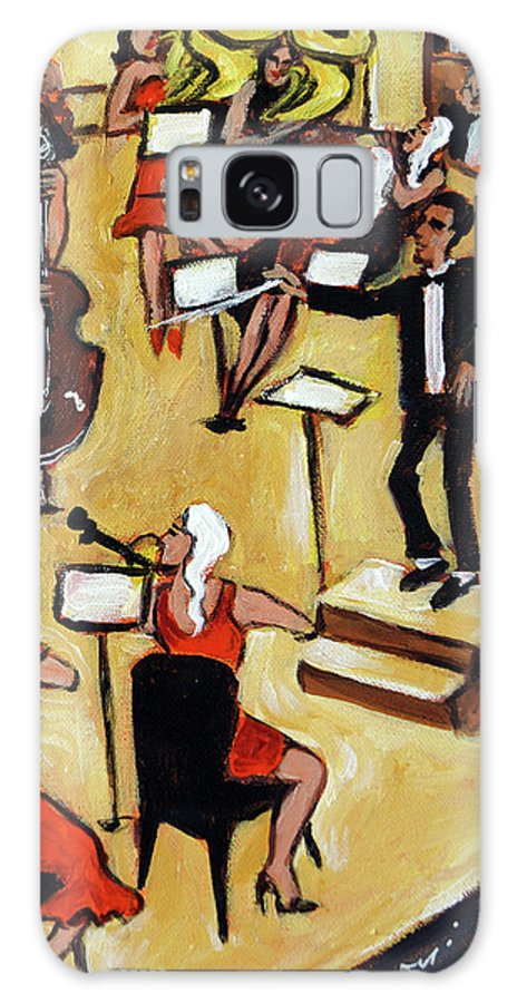 Carnegie Hall Orchestra Galaxy S8 Case featuring the painting Symphony by Valerie Vescovi