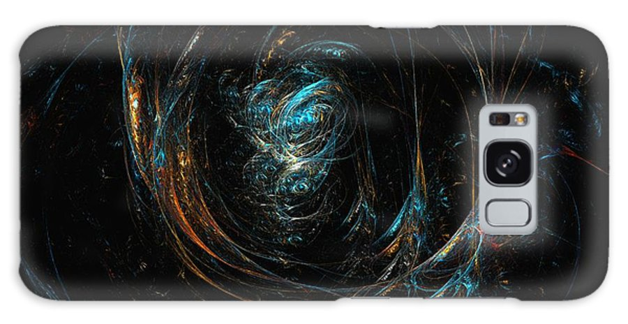 Abstract Digital Painting Galaxy S8 Case featuring the digital art Synapse by David Lane
