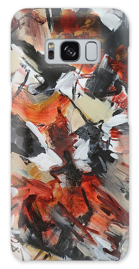 Abstract Acylic Painting Cathy Hirsh Galaxy S8 Case featuring the painting Syncopated Rhythms by Cathy Hirsh