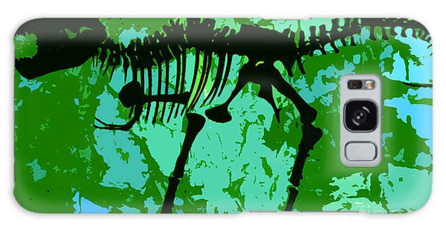 T Rex Galaxy S8 Case featuring the digital art T. Rex by David Lee Thompson