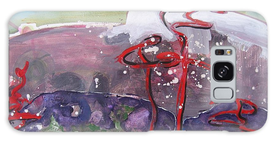Abstract Paintings Galaxy S8 Case featuring the painting Table Land3 by Seon-Jeong Kim