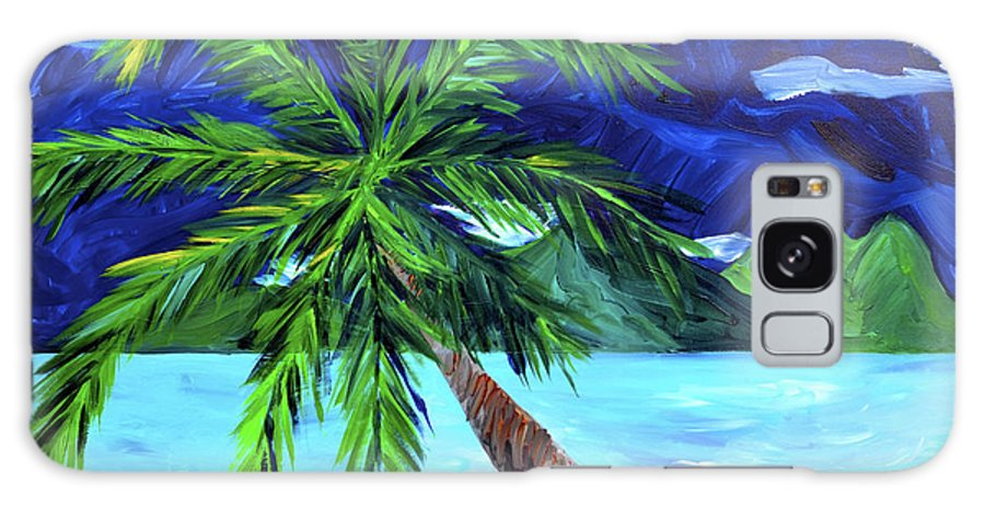 Tahiti Galaxy S8 Case featuring the painting Tahiti Beach by Beth Cooper