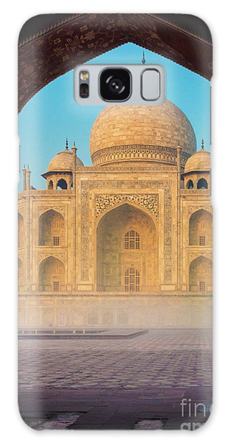 Agra Galaxy Case featuring the photograph Taj Mahal Though An Arch by Inge Johnsson
