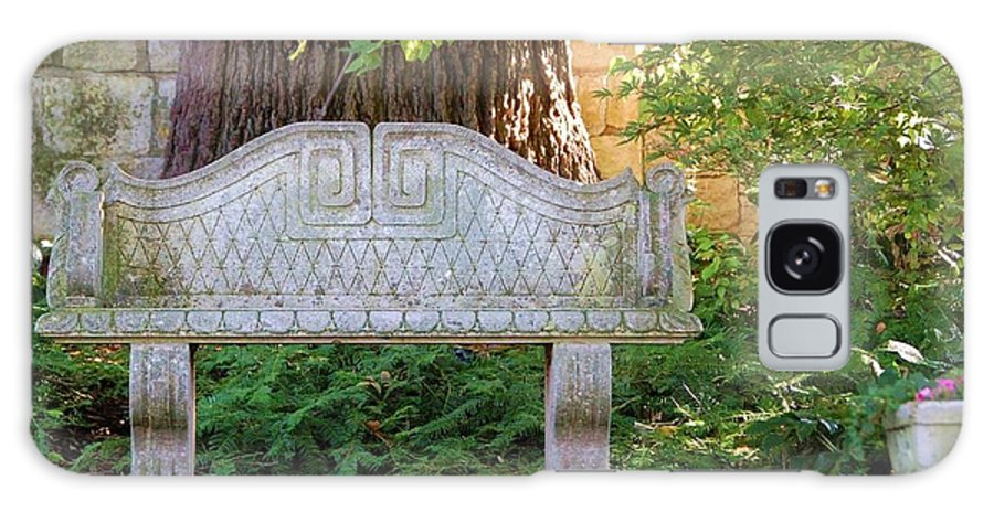 Bench Galaxy Case featuring the photograph Take A Break by Debbi Granruth