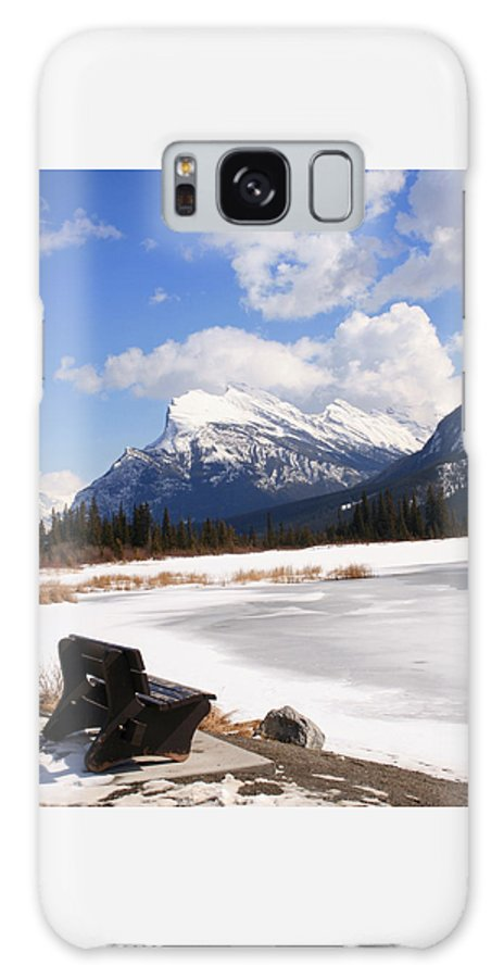 Vermillion Lake Galaxy S8 Case featuring the photograph Take A Seat At Vermillion Lake by Tiffany Vest