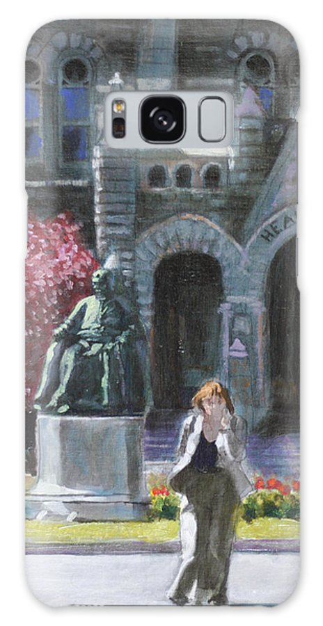 Georgetown University Oil Painting On Linen Panel Galaxy S8 Case featuring the painting Talking Of Michaelangelo by David Zimmerman