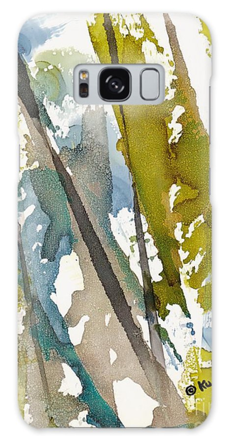 Forest Galaxy Case featuring the painting Tall Timber by Susan Kubes