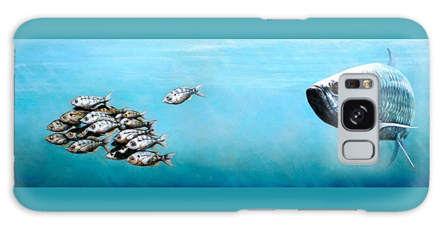 Underwater Galaxy S8 Case featuring the painting Tampa Bay Tarpon by Joan Garcia