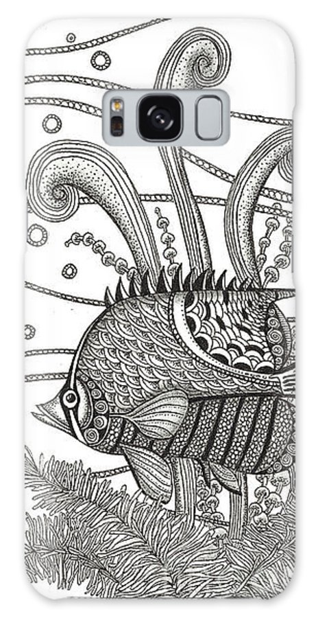 Fish Galaxy S8 Case featuring the drawing Tangle Fish by Stephanie Troxell