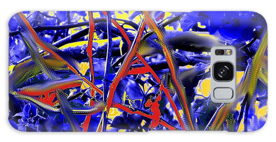 Abstract Galaxy S8 Case featuring the photograph Tangled Web by Ian MacDonald