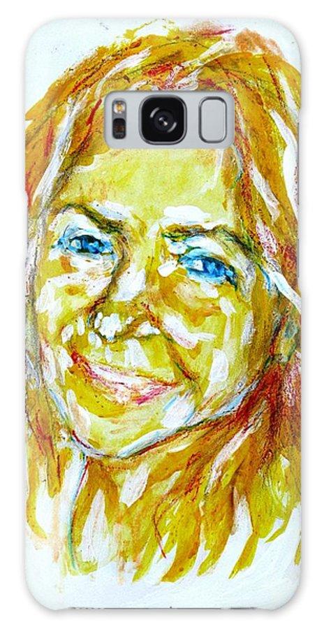 Tania Helft Galaxy S8 Case featuring the drawing Tania Helft, Portrait by Sviatoslav Alexakhin