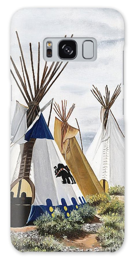 Art Galaxy Case featuring the painting Taos by Mary Rogers