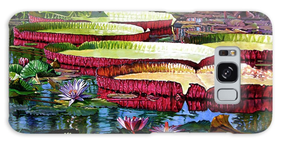 Landscape Galaxy Case featuring the painting Tapestry Of Color And Light by John Lautermilch