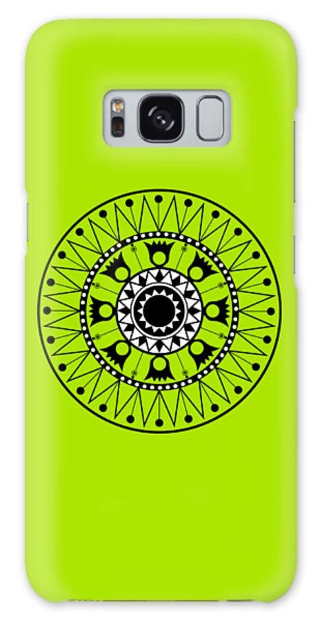 Tapiz Galaxy S8 Case featuring the digital art Tapiz Black And White by Karina Rondon