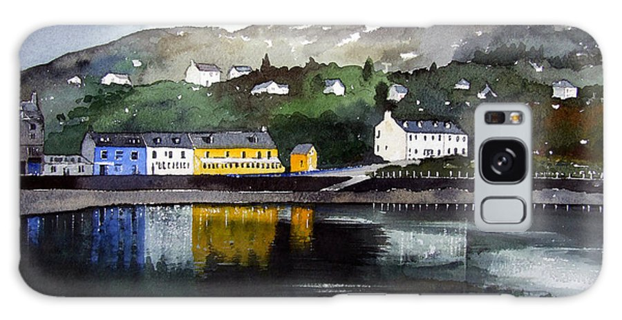 Scottish Fishing Harbour Galaxy S8 Case featuring the painting Tarbert Reflections by Paul Dene Marlor