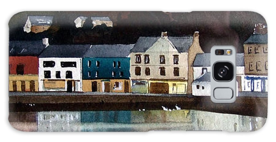 Landscape Galaxy Case featuring the painting Tarbert Reflections by Paul Dene Marlor