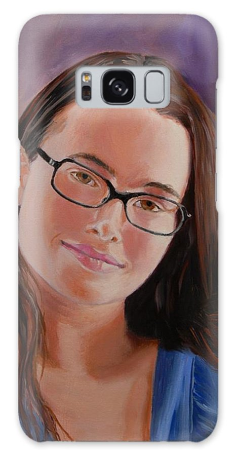 Portrait Galaxy Case featuring the painting Taryn Snow by Quwatha Valentine
