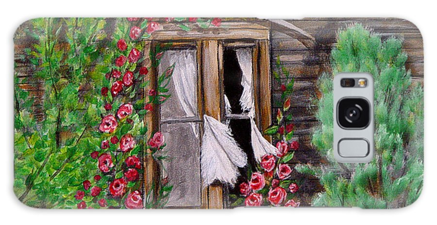 Curtains Galaxy Case featuring the painting Tattered Curtains by Quwatha Valentine