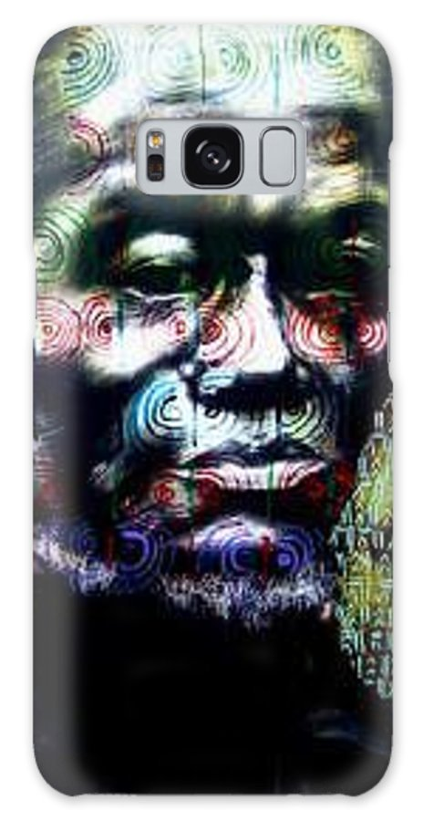 Portrait Galaxy Case featuring the mixed media Tattoo by Chester Elmore