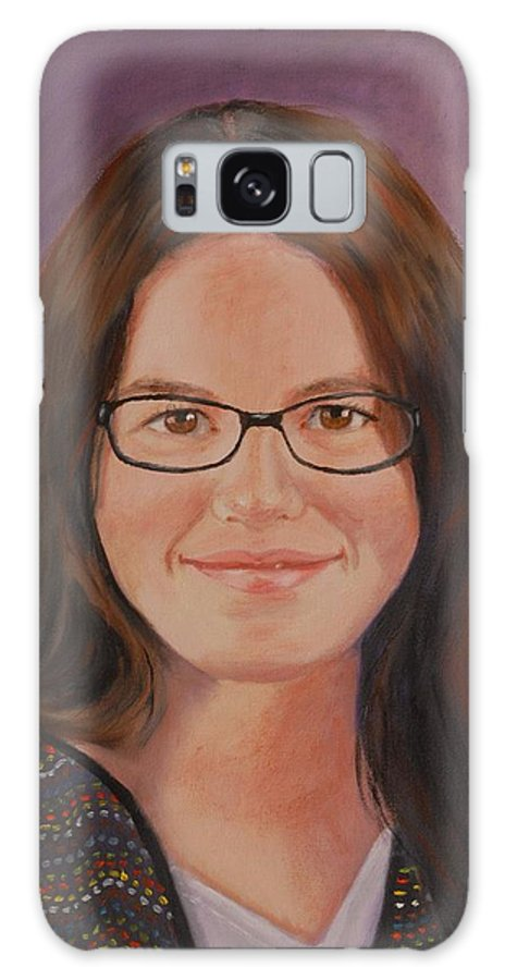 Portrait Galaxy Case featuring the painting Taylor Snow by Quwatha Valentine