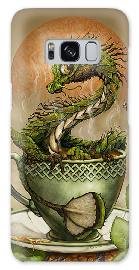 Tea Galaxy S8 Case featuring the digital art Tea Dragon by Stanley Morrison