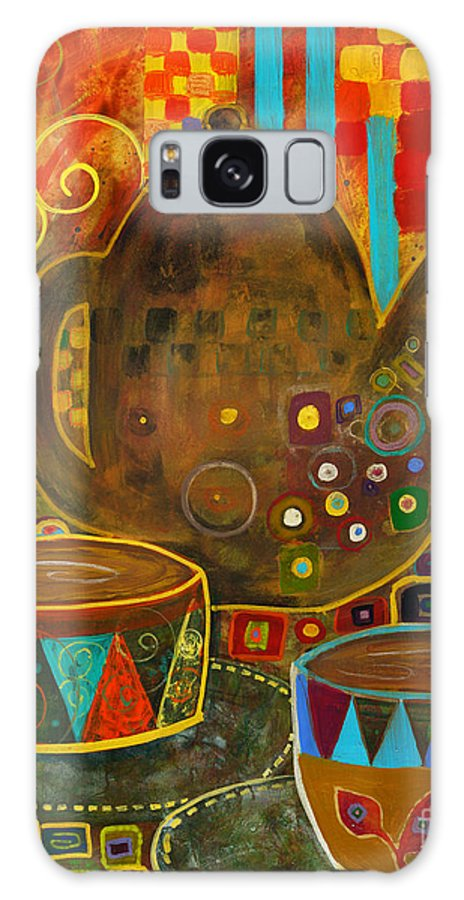 Klimt Galaxy S8 Case featuring the painting Tea Party With Klimt by Robin Maria Pedrero